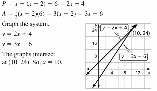 Big Ideas Math Algebra 1 Answers Chapter 5 Solving Systems of Linear Equations 5.5 Question 39