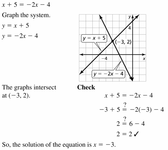 Big Ideas Math Algebra 1 Answers Chapter 5 Solving Systems of Linear Equations 5.5 Question 9