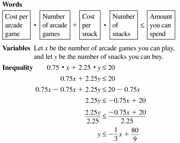 Big Ideas Math Algebra 1 Answers Chapter 5 Solving Systems of Linear Equations 5.6 Question 33.1