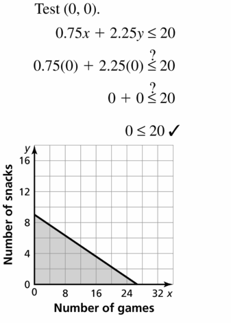 Big Ideas Math Algebra 1 Answers Chapter 5 Solving Systems of Linear Equations 5.6 Question 33.2