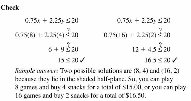 Big Ideas Math Algebra 1 Answers Chapter 5 Solving Systems of Linear Equations 5.6 Question 33.3