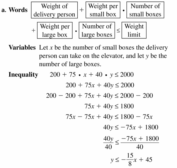 Big Ideas Math Algebra 1 Answers Chapter 5 Solving Systems of Linear Equations 5.6 Question 39.1