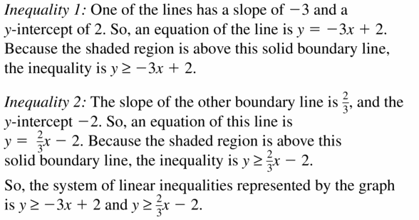 Big Ideas Math Algebra 1 Answers Chapter 5 Solving Systems of Linear Equations 5.7 Question 23