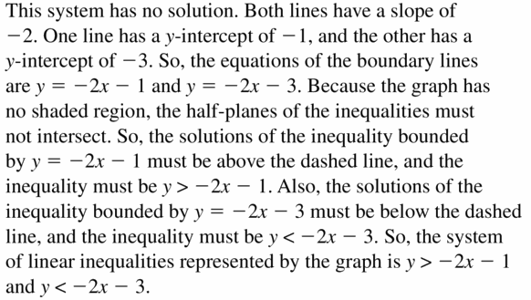 Big Ideas Math Algebra 1 Answers Chapter 5 Solving Systems of Linear Equations 5.7 Question 25