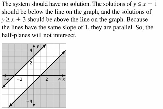 Big Ideas Math Algebra 1 Answers Chapter 5 Solving Systems of Linear Equations 5.7 Question 27