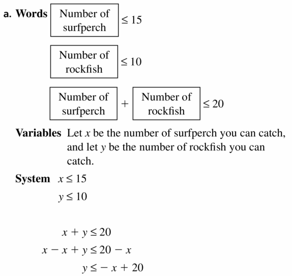 Big Ideas Math Algebra 1 Answers Chapter 5 Solving Systems of Linear Equations 5.7 Question 31.1