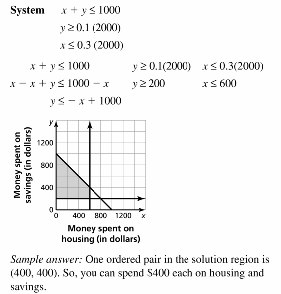 Big Ideas Math Algebra 1 Answers Chapter 5 Solving Systems of Linear Equations 5.7 Question 35.2