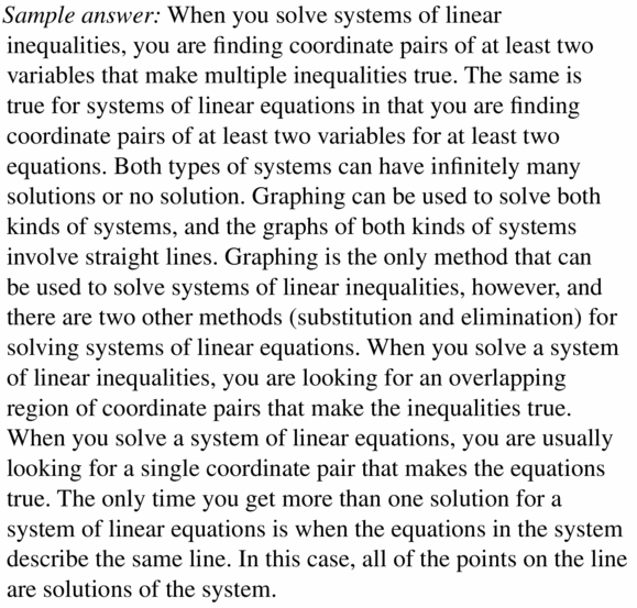 Big Ideas Math Algebra 1 Answers Chapter 5 Solving Systems of Linear Equations 5.7 Question 37
