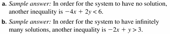 Big Ideas Math Algebra 1 Answers Chapter 5 Solving Systems of Linear Equations 5.7 Question 45