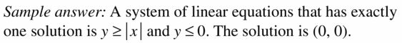 Big Ideas Math Algebra 1 Answers Chapter 5 Solving Systems of Linear Equations 5.7 Question 47