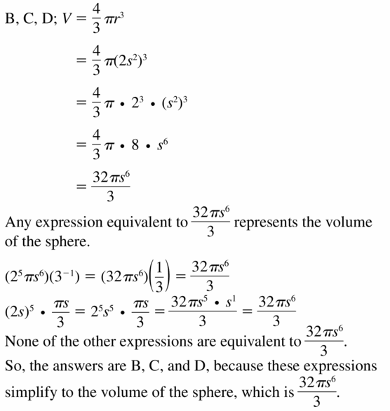 Big Ideas Math Algebra 1 Answers Chapter 6 Exponential Functions and Sequences 6.1 Question 45