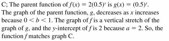 Big Ideas Math Algebra 1 Answers Chapter 6 Exponential Functions and Sequences 6.3 Question 21