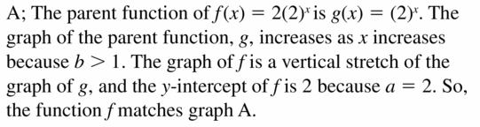 Big Ideas Math Algebra 1 Answers Chapter 6 Exponential Functions and Sequences 6.3 Question 23