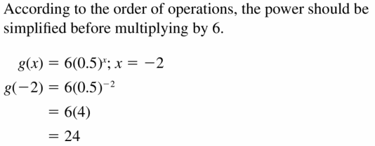 Big Ideas Math Algebra 1 Answers Chapter 6 Exponential Functions and Sequences 6.3 Question 41