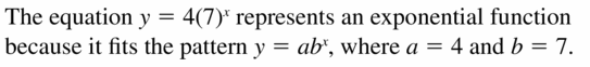 Big Ideas Math Algebra 1 Answers Chapter 6 Exponential Functions and Sequences 6.3 Question 5