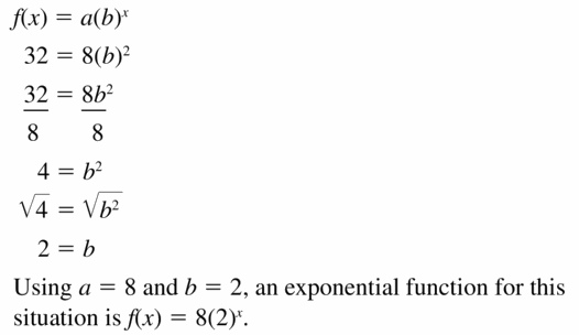 Big Ideas Math Algebra 1 Answers Chapter 6 Exponential Functions and Sequences 6.3 Question 63.2