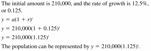 Big Ideas Math Algebra 1 Answers Chapter 6 Exponential Functions and Sequences 6.4 Question 15
