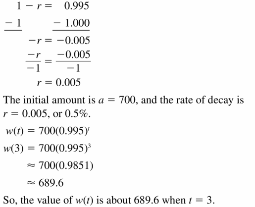 Big Ideas Math Algebra 1 Answers Chapter 6 Exponential Functions and Sequences 6.4 Question 23