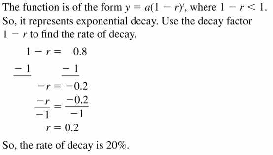 Big Ideas Math Algebra 1 Answers Chapter 6 Exponential Functions and Sequences 6.4 Question 41