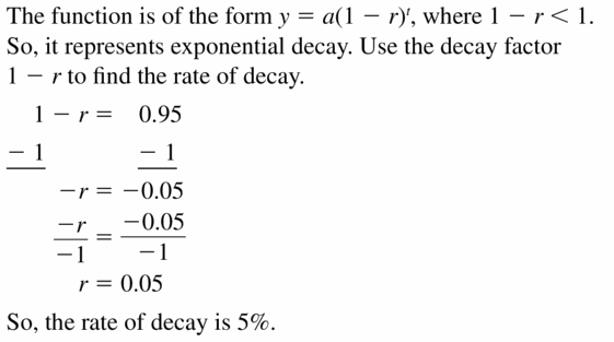 Big Ideas Math Algebra 1 Answers Chapter 6 Exponential Functions and Sequences 6.4 Question 43
