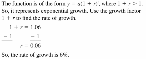 Big Ideas Math Algebra 1 Answers Chapter 6 Exponential Functions and Sequences 6.4 Question 45