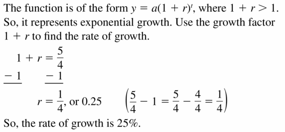 Big Ideas Math Algebra 1 Answers Chapter 6 Exponential Functions and Sequences 6.4 Question 47