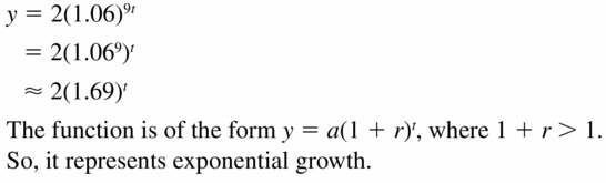 Big Ideas Math Algebra 1 Answers Chapter 6 Exponential Functions and Sequences 6.4 Question 51