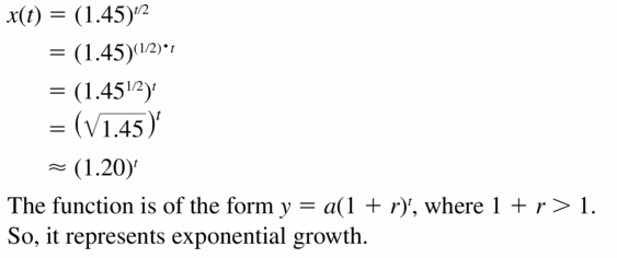 Big Ideas Math Algebra 1 Answers Chapter 6 Exponential Functions and Sequences 6.4 Question 53