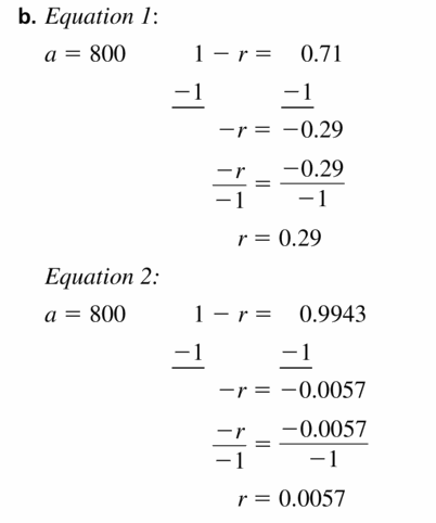 Big Ideas Math Algebra 1 Answers Chapter 6 Exponential Functions and Sequences 6.4 Question 65.2