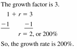 Big Ideas Math Algebra 1 Answers Chapter 6 Exponential Functions and Sequences 6.4 Question 67