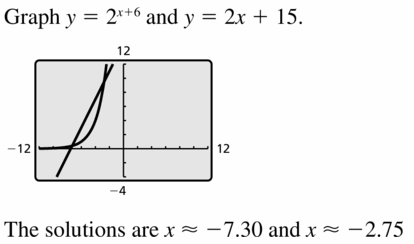 Big Ideas Math Algebra 1 Answers Chapter 6 Exponential Functions and Sequences 6.5 Question 29
