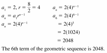 Big Ideas Math Algebra 1 Answers Chapter 6 Exponential Functions and Sequences 6.6 Question 25