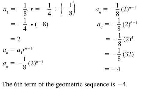 Big Ideas Math Algebra 1 Answers Chapter 6 Exponential Functions and Sequences 6.6 Question 27