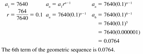 Big Ideas Math Algebra 1 Answers Chapter 6 Exponential Functions and Sequences 6.6 Question 29
