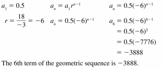 Big Ideas Math Algebra 1 Answers Chapter 6 Exponential Functions and Sequences 6.6 Question 31