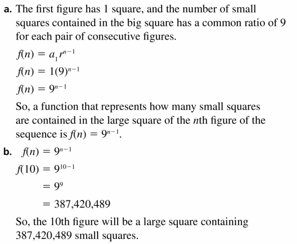 Big Ideas Math Algebra 1 Answers Chapter 6 Exponential Functions and Sequences 6.6 Question 39