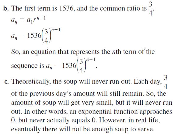 Big Ideas Math Algebra 1 Answers Chapter 6 Exponential Functions and Sequences 6.6 Question 51.2
