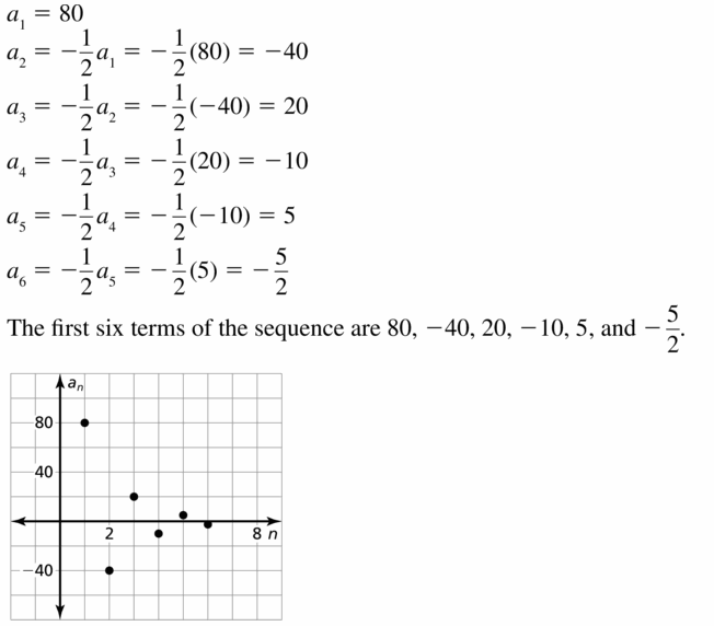 Big Ideas Math Algebra 1 Answers Chapter 6 Exponential Functions and Sequences 6.7 Question 11