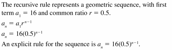 Big Ideas Math Algebra 1 Answers Chapter 6 Exponential Functions and Sequences 6.7 Question 25