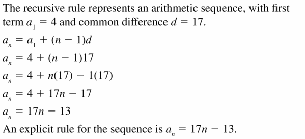 Big Ideas Math Algebra 1 Answers Chapter 6 Exponential Functions and Sequences 6.7 Question 27