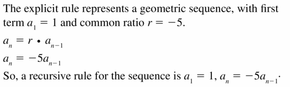 Big Ideas Math Algebra 1 Answers Chapter 6 Exponential Functions and Sequences 6.7 Question 33