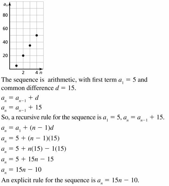 Big Ideas Math Algebra 1 Answers Chapter 6 Exponential Functions and Sequences 6.7 Question 35.1