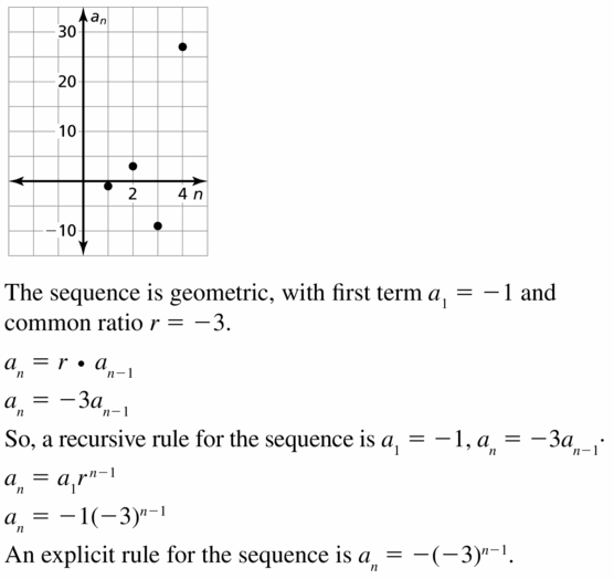 Big Ideas Math Algebra 1 Answers Chapter 6 Exponential Functions and Sequences 6.7 Question 37