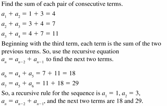Big Ideas Math Algebra 1 Answers Chapter 6 Exponential Functions and Sequences 6.7 Question 39