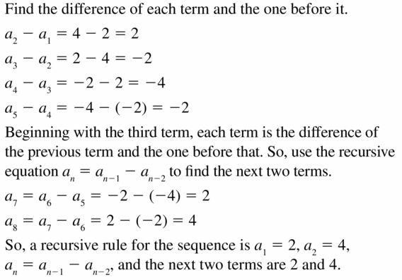 Big Ideas Math Algebra 1 Answers Chapter 6 Exponential Functions and Sequences 6.7 Question 41