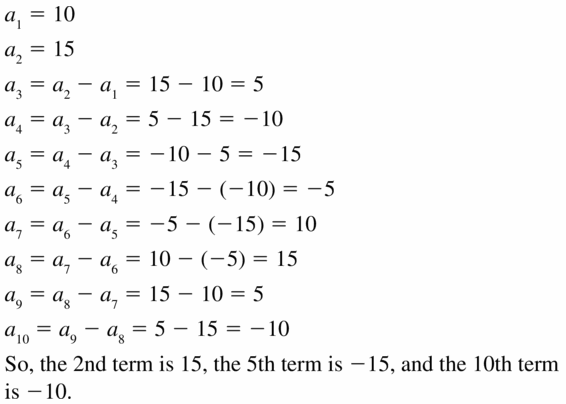 Big Ideas Math Algebra 1 Answers Chapter 6 Exponential Functions and Sequences 6.7 Question 51
