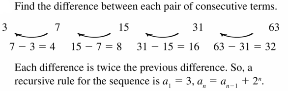 Big Ideas Math Algebra 1 Answers Chapter 6 Exponential Functions and Sequences 6.7 Question 59