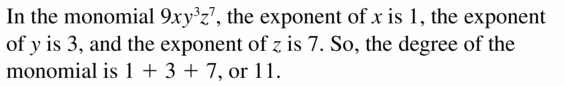Big Ideas Math Algebra 1 Answers Chapter 7 Polynomial Equations and Factoring 7.1 Question 11