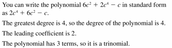 Big Ideas Math Algebra 1 Answers Chapter 7 Polynomial Equations and Factoring 7.1 Question 13