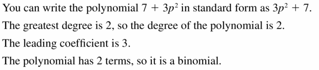 Big Ideas Math Algebra 1 Answers Chapter 7 Polynomial Equations and Factoring 7.1 Question 15